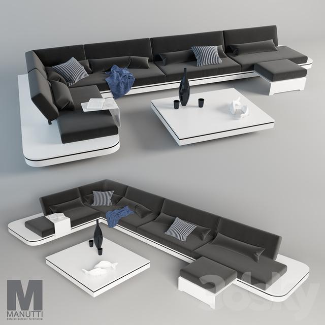 3d Models Sofa Elements Manutti