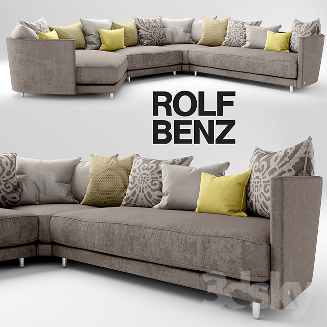 3d models sofa sofa rolf benz onda for Sofa benz rolf