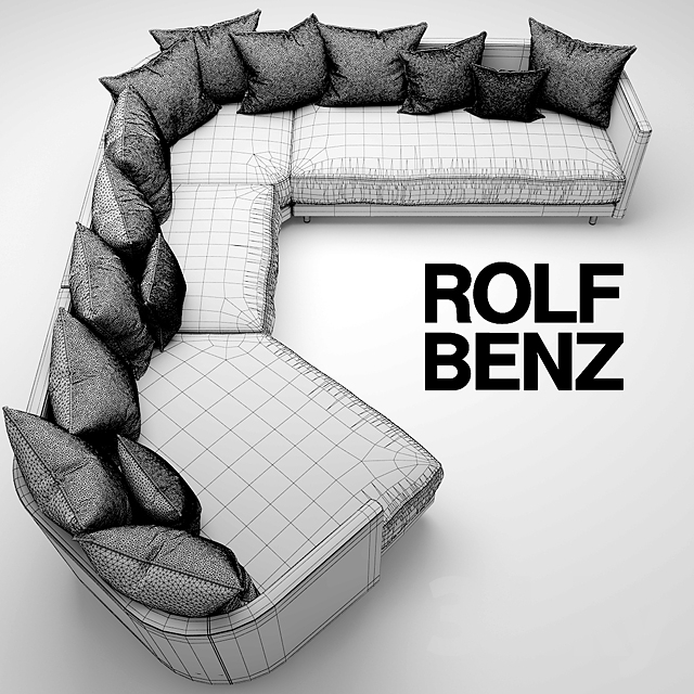 3d models sofa sofa rolf benz onda. Black Bedroom Furniture Sets. Home Design Ideas
