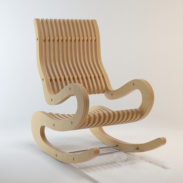 3d Models Arm Chair Rocking Chair Made Of Plywood