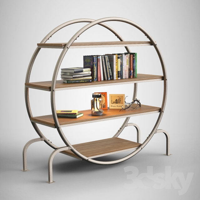 3d models: Other - Round bookshelf / Round Bookcase