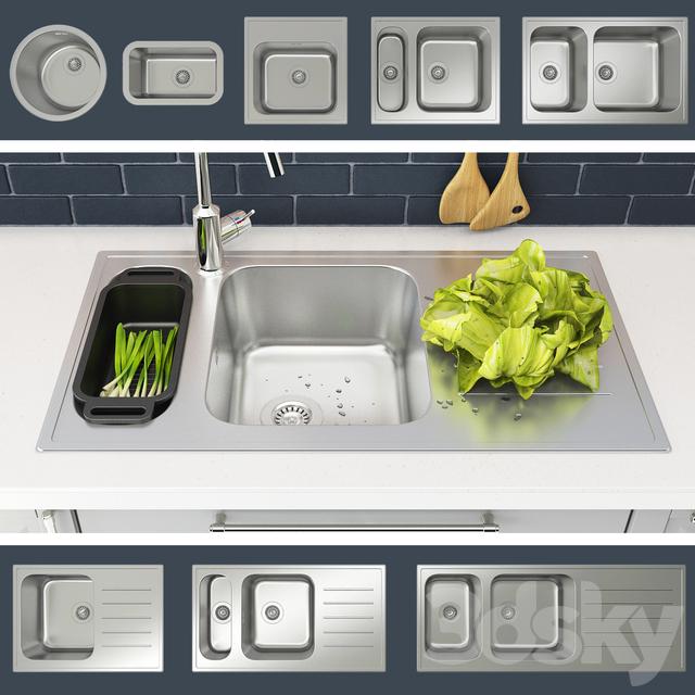 3d models: Sink - Kitchen sinks BUHOLMEN IKEA (IKEA BOHOLMEN)