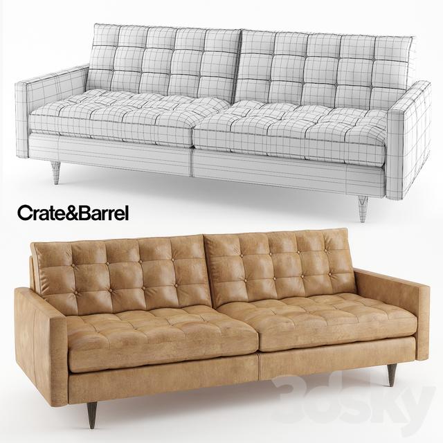 3d Models: Sofa   Crateu0026Barrel Petrie Leather Sofa
