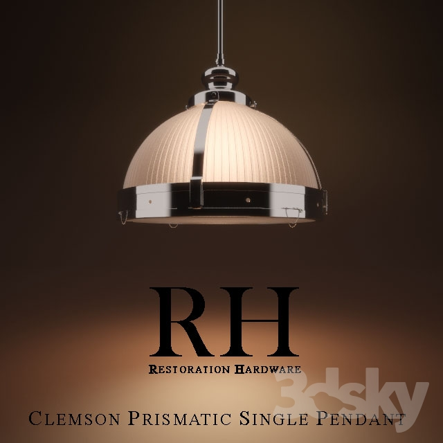Clemson Prismatic Single Pendant