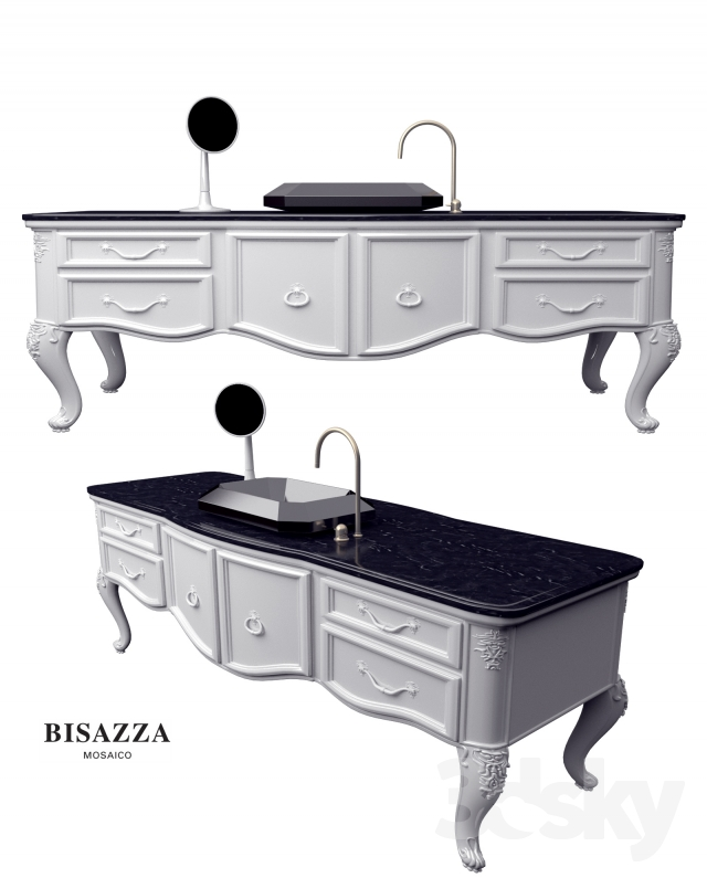 3d models bathroom furniture bisazza wash basin bagno - Bisazza mosaico bagno ...