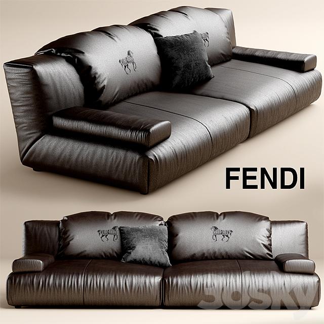3d models: sofa - sofa fendi casa agadir - Fendi Sofa