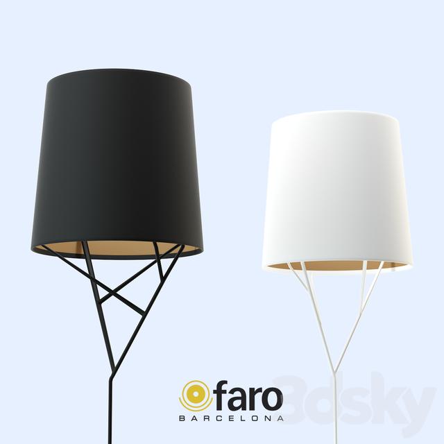 3d models floor lamp faro tree floor lamp black white With faro tree floor lamp black white