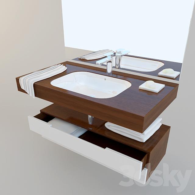 3d Models Bathroom Furniture Set For Bath Duravit Happy D2