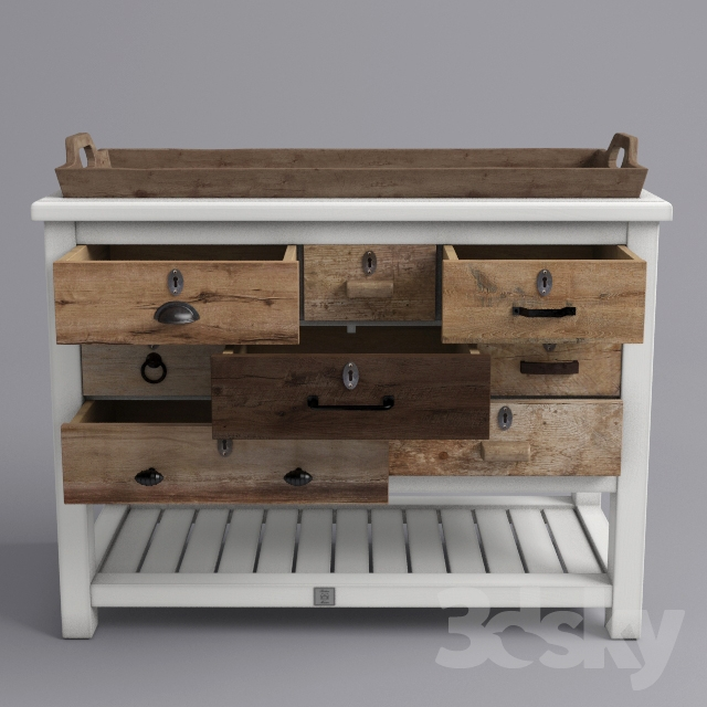 Hampton Island Side Table.3d Models Sideboard Chest Of Drawer Chest Hampton