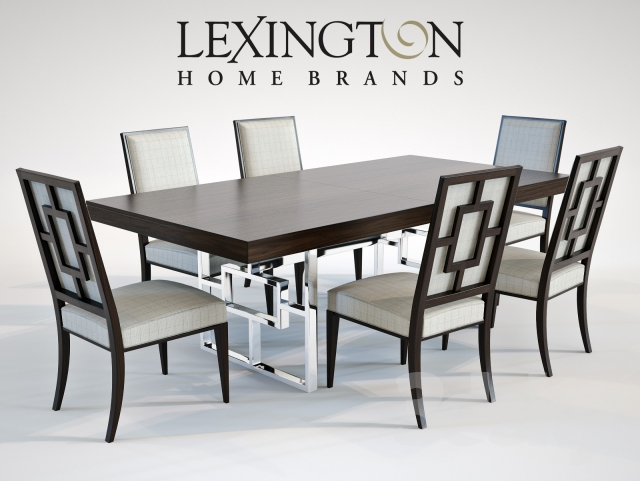 3d models: Table + Chair - Lexington MONROE DINING TABLE &amp ...