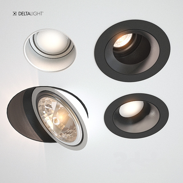 3d Models Spot Light Downlights Delta Light 5 Types 02