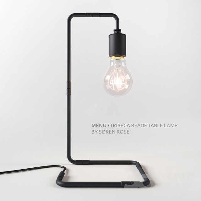 3d models: Table lamp - Menu Tribeca Reade Table Lamp