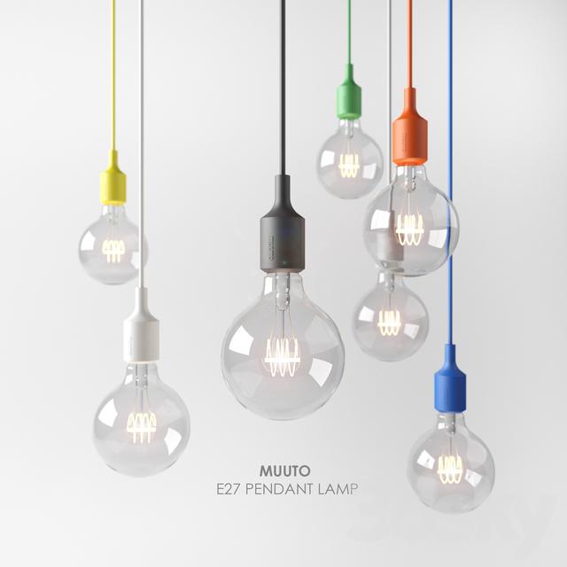 3d Models Ceiling Light Muuto E27 Pendant Lamp