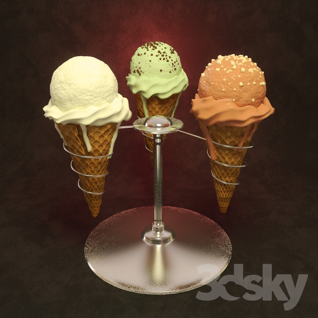 Ice cream with Stand