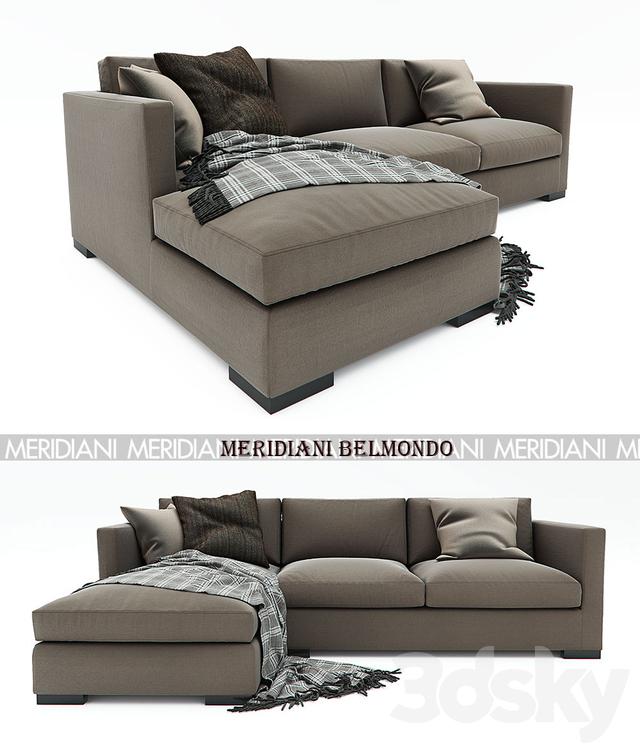 3d Models Sofa Meridiani Belmondo