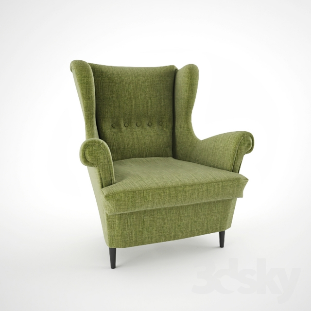 3d models arm chair strandmon. Black Bedroom Furniture Sets. Home Design Ideas