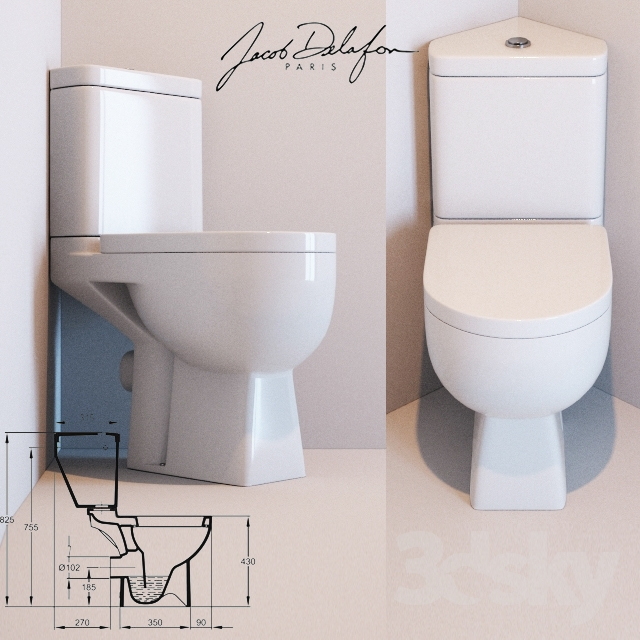 3d models toilet and bidet toilet jacob delafon odeon up 18557k e4702 e4741. Black Bedroom Furniture Sets. Home Design Ideas