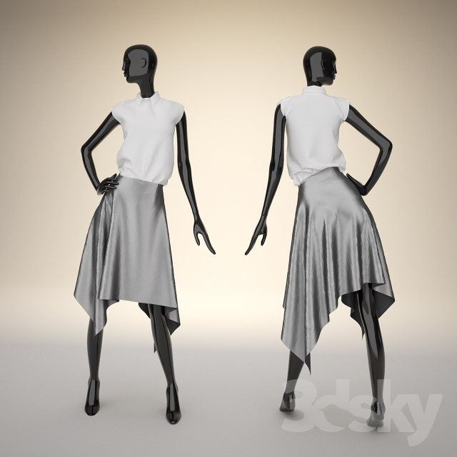 3d models clothes and shoes mannequin