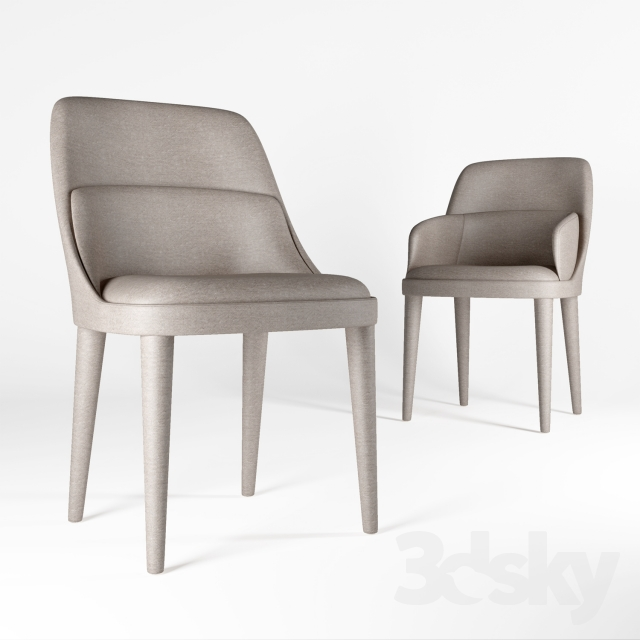 3d Models Chair Gallotti And Radice Jackie
