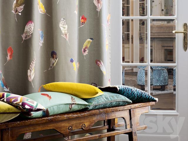 3d models fabric zimmer rohde. Black Bedroom Furniture Sets. Home Design Ideas