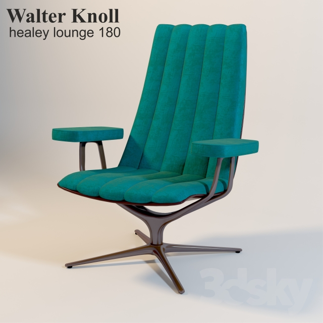 3d Models Arm Chair Walter Knoll Healey Lounge 180 10
