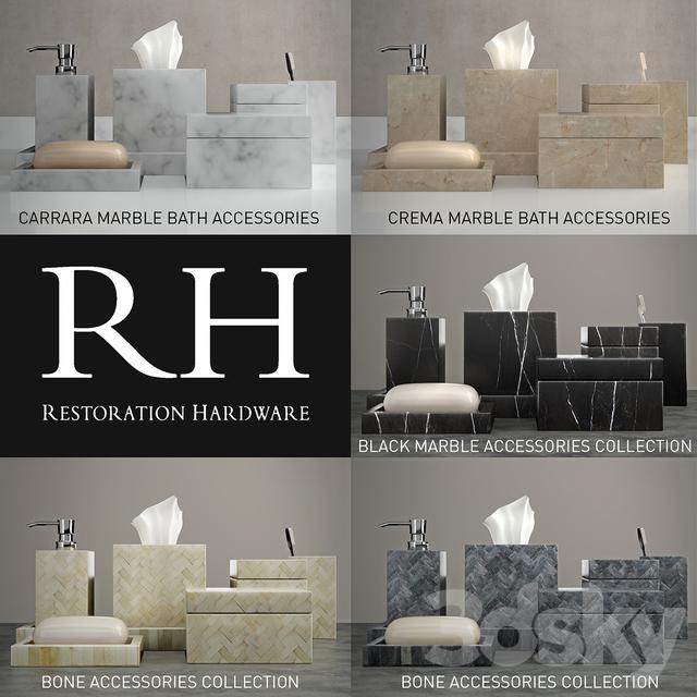 48d Models Bathroom Accessories Sets For Bathrooms Restoration Magnificent Black Marble Bathroom Model