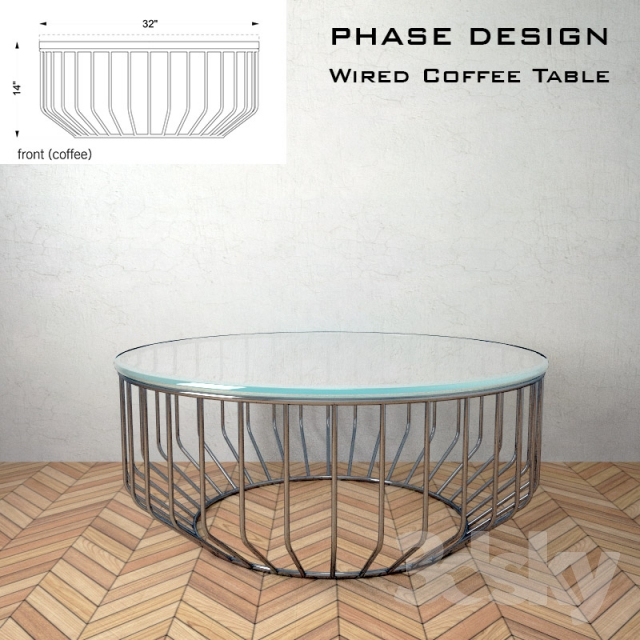 3d models: Table - Wired Coffee Table