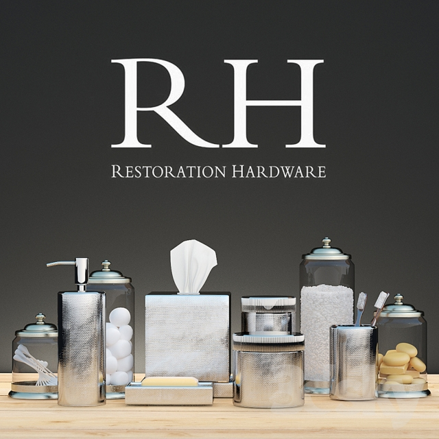 3d models bathroom accessories bath decor restoration Restoration hardware bathroom