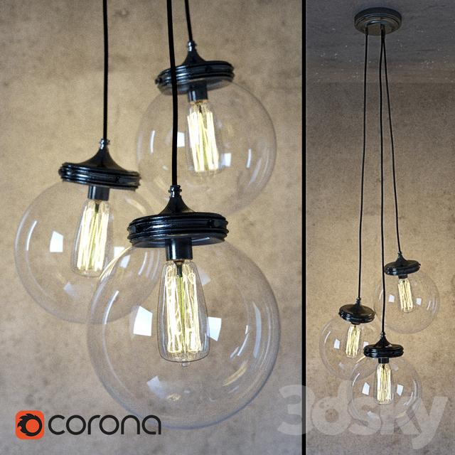 3d models ceiling light pottery barn calhoun multi pendant chandelier pottery barn calhoun multi pendant chandelier aloadofball Images
