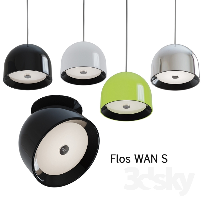 3d models ceiling light flos wan s. Black Bedroom Furniture Sets. Home Design Ideas