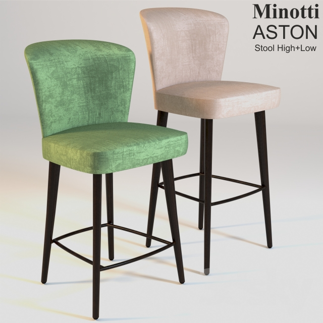 3d Models Chair Minotti Aston Stool High Low