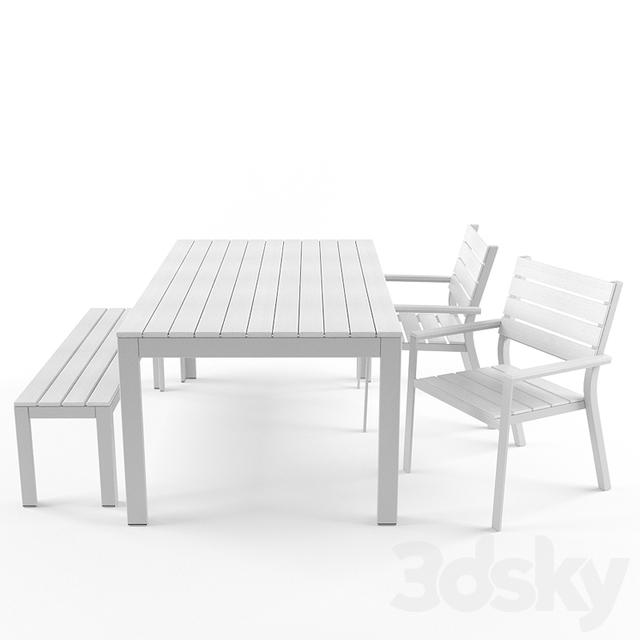 Attirant 3d Models: Table + Chair   Ikea Falster