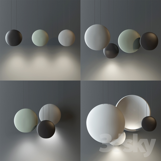 3d Models Ceiling Light Vibia Cosmos