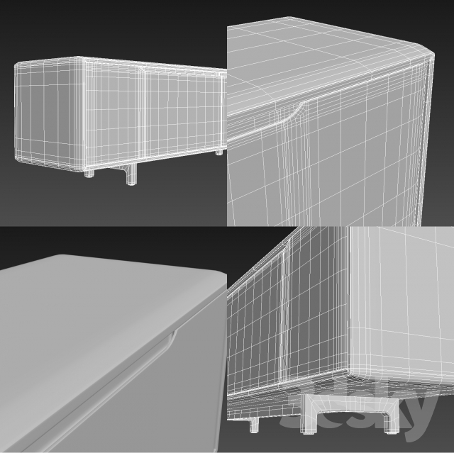 3d models sideboard chest of drawer artisan invito for Sideboard lowboard