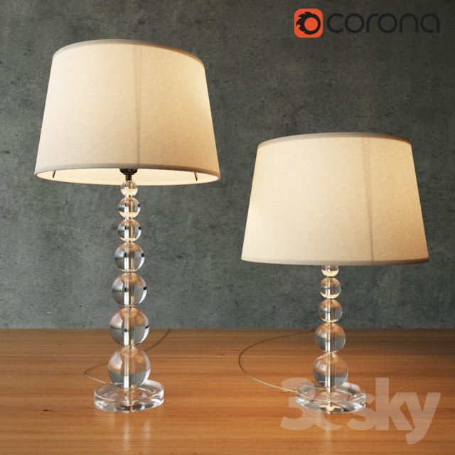 3d models table lamp pottery barn stacked crystal table amp pottery barn stacked crystal table amp bedside lamp aloadofball Images