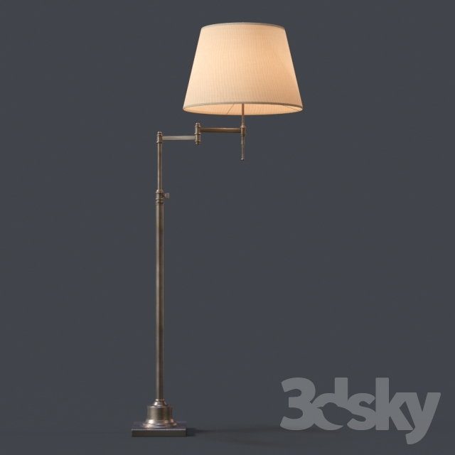 3d models floor lamp restoration hardware library swing arm restoration hardware library swing arm floor lamp aloadofball Images