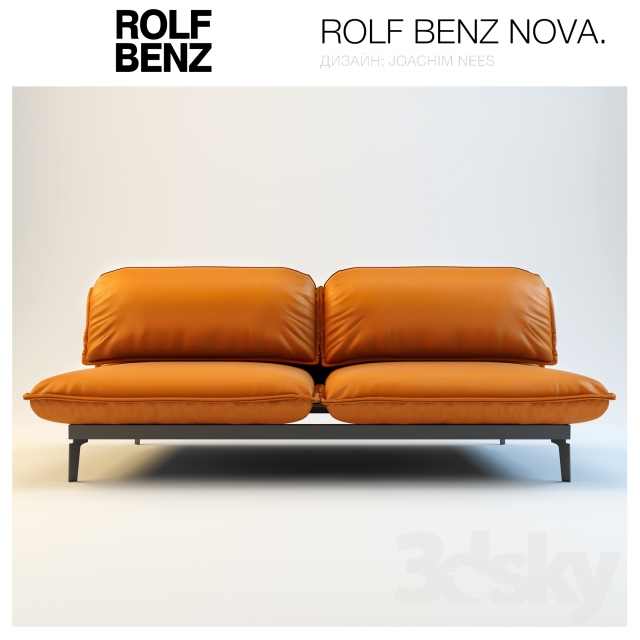 3d models sofa sofa rolf benz nova for Couch benz