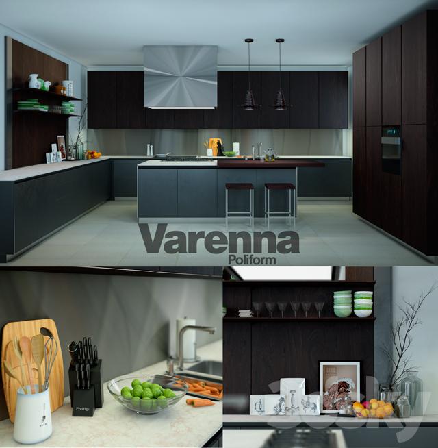 3d models kitchen varenna poliform twelve kitchen for Poliform kuchen
