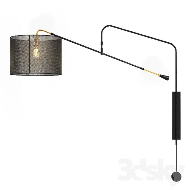 H&ton Lighting BOOM ARM SCONCE  sc 1 th 225 & 3d models: Wall light - Hampton Lighting BOOM ARM SCONCE