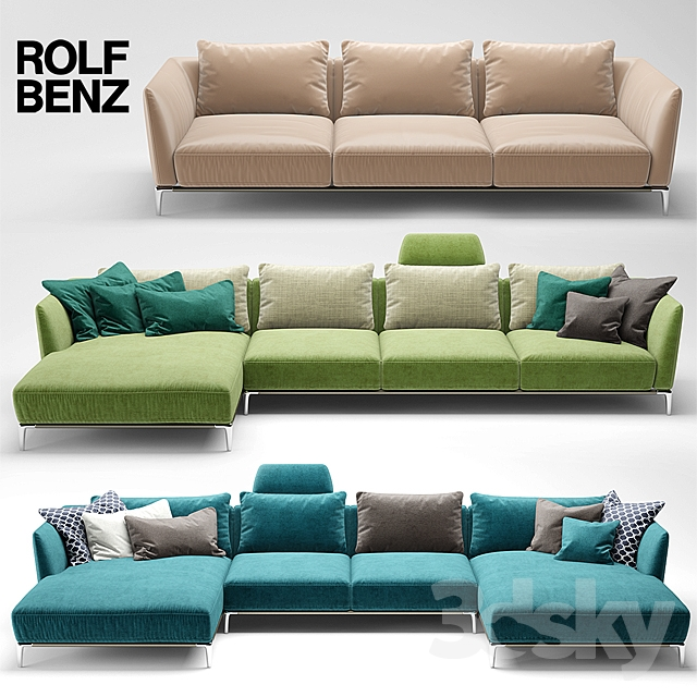 3d models sofa sofa rolf benz scala for Sofa benz rolf
