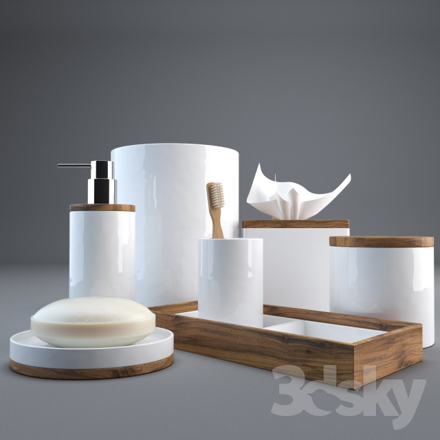3d Models Bathroom Accessories Hotel Collection Century Bath Accessories Collection