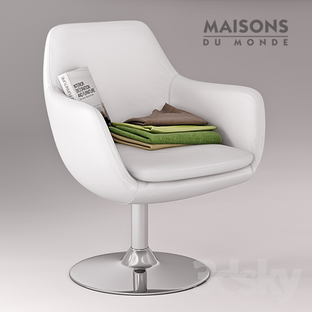 3d models arm chair maisons du monde ginko armchair - Maison du monde rocking chair ...