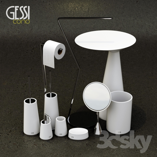3d models bathroom accessories gessi cono bath accessories for 3d bathroom accessories