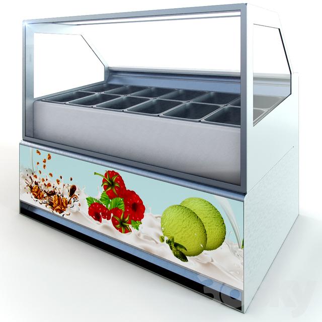 Showcase for ice cream Limosa
