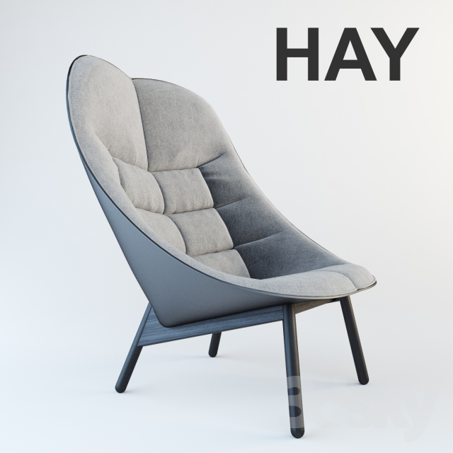 3d models arm chair hay uchiwa lounge chair. Black Bedroom Furniture Sets. Home Design Ideas