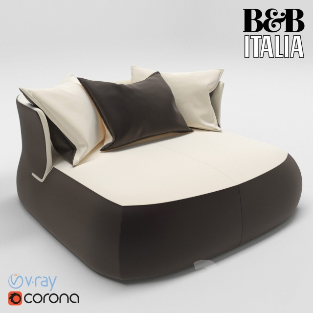 3d Models Sofa B Amp B Italia Fat Sofa