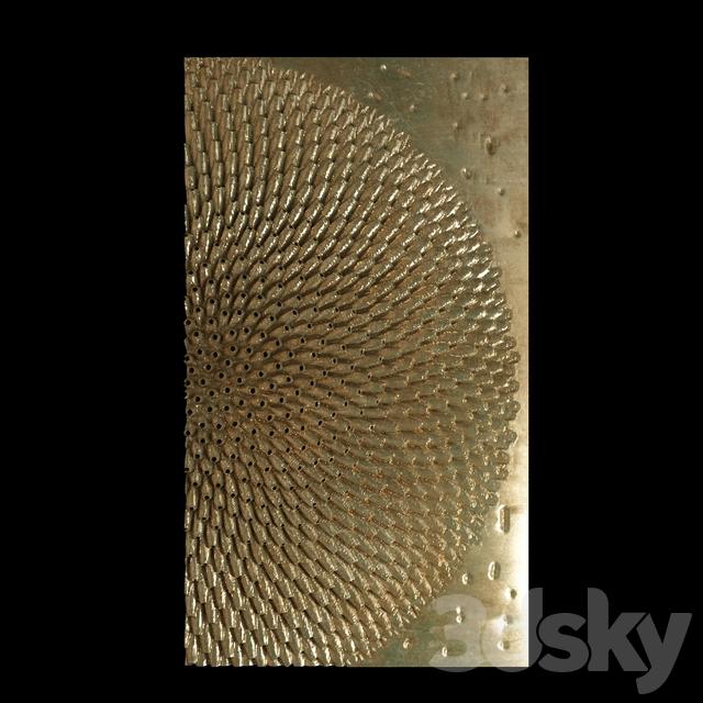 3d models: Decorative plaster - wall panel decorative