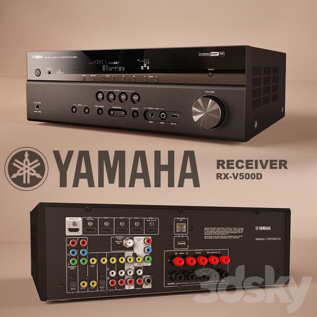 3d models audio tech receiver yamaha rx v500d