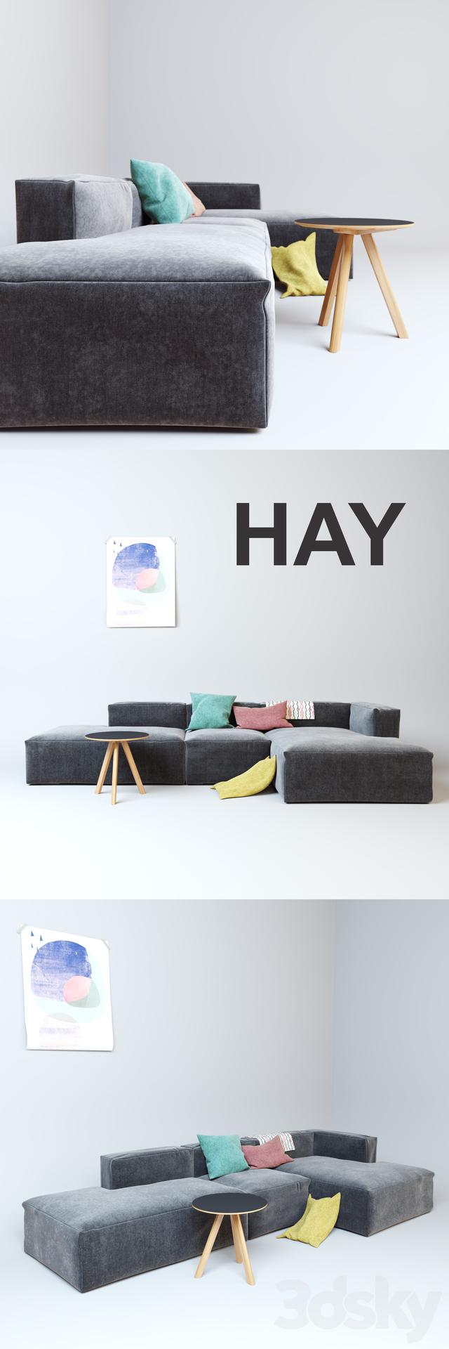 3d models sofa hay mags soft sofa. Black Bedroom Furniture Sets. Home Design Ideas