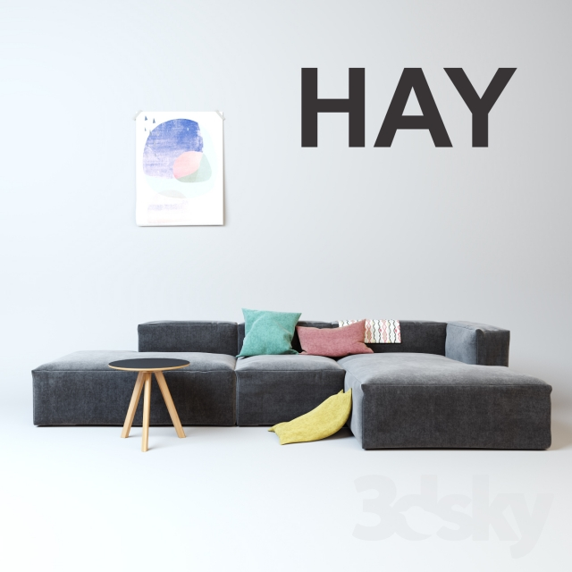 3d models sofa hay mags soft sofa. Black Bedroom Furniture Sets. Home Design Ideas